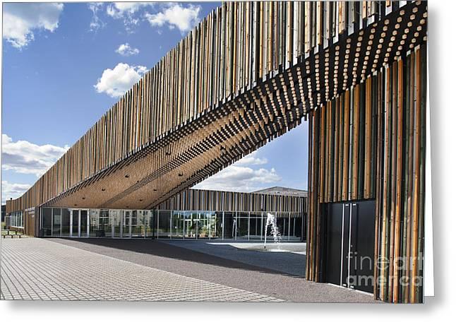 Bike Racks At A Modern Office Building Greeting Card by Jaak Nilson