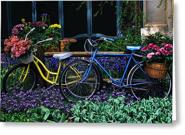 Greeting Card featuring the photograph Bike Ride by Tammy Espino