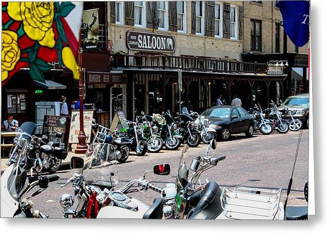 Biker's Bar Greeting Card