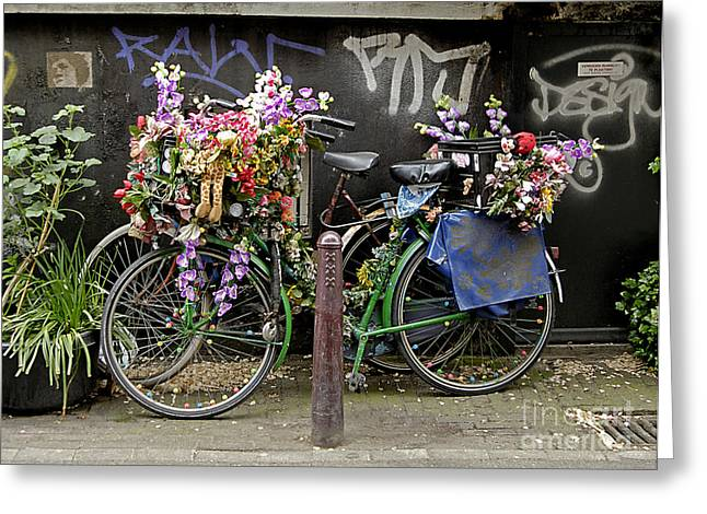 Bikes As Art Greeting Card by Ed Rooney