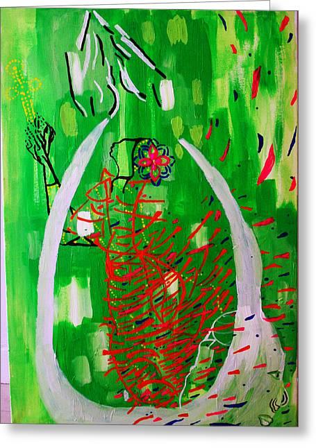 Bikira Maria - Rosa Mystica Greeting Card by Gloria Ssali