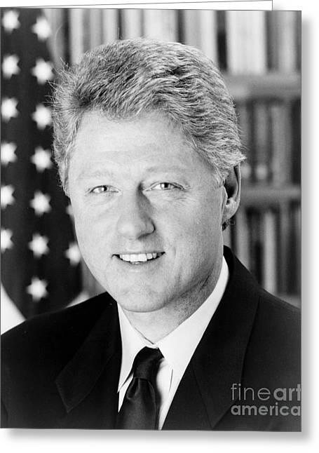 Bill Clinton (1946- ) Greeting Card by Granger
