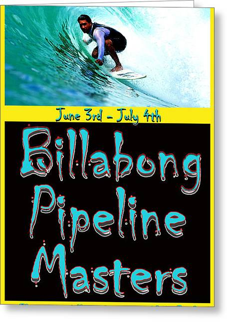 Billabong Pool Surfing Greeting Card by Scott T