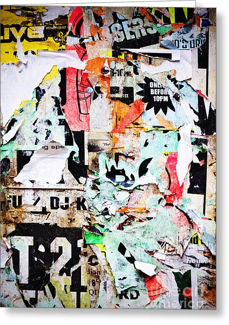 Billboard With Old Torn Posters Greeting Card by Richard Thomas