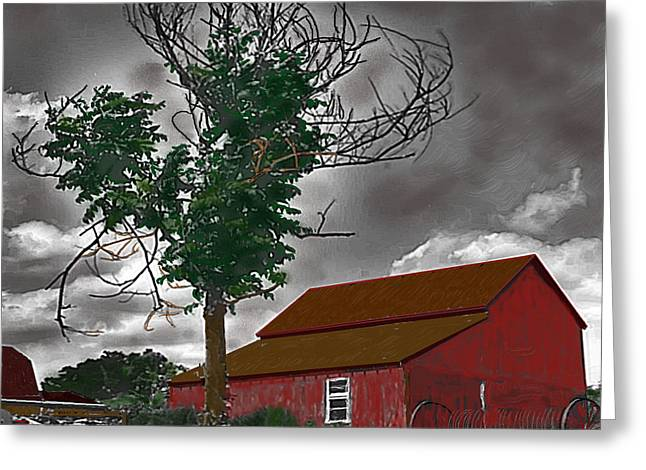 Bills Barn   Red Greeting Card