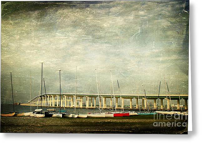Biloxi Bay Bridge Greeting Card by Joan McCool