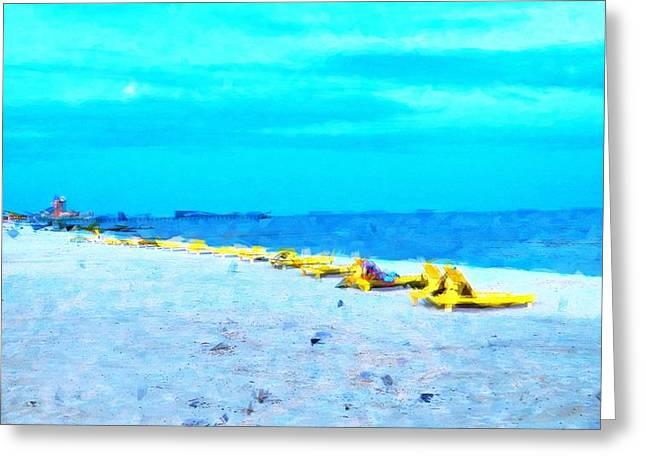 Biloxi Beach Greeting Card by Scott Crump