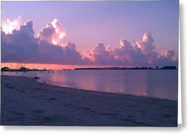 Greeting Card featuring the photograph Biloxi Sunrise by Brian Wright