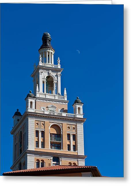 Greeting Card featuring the photograph Coral Gables Biltmore Hotel Tower by Ed Gleichman