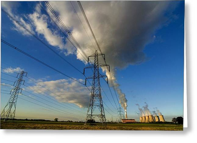 Bioenergy Greeting Card by Chris Knapton