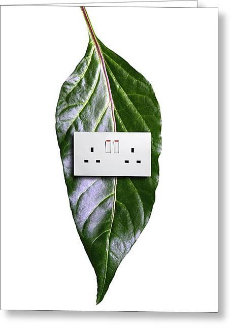 Bioenergy, Conceptual Image Greeting Card by Victor De Schwanberg