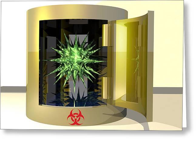 Biohazard Virus Greeting Card by Laguna Design