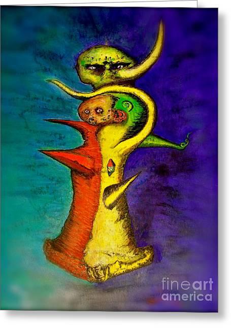 Biohazard  Voodoo Greeting Card by Raul Morales