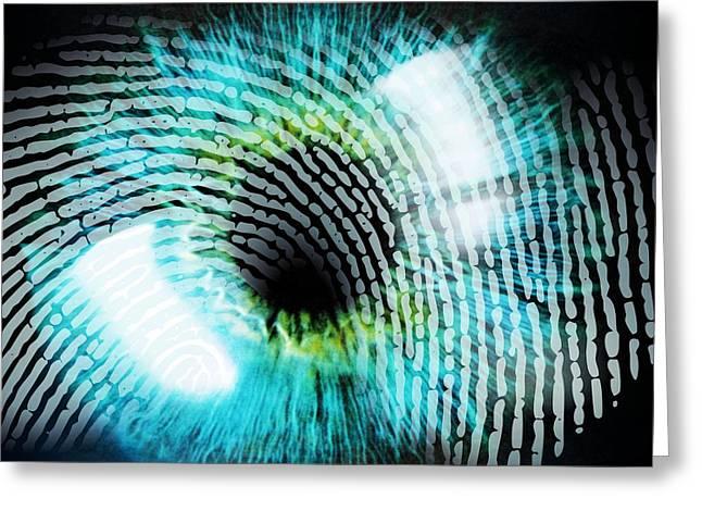 Biometric Identification Greeting Card by Pasieka