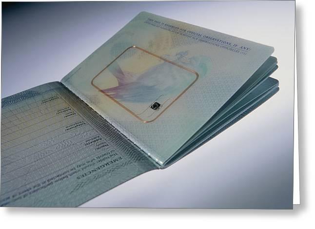 Biometric Passport Chip Greeting Card