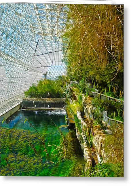 Biosphere2 - Environment 1 Greeting Card by Gregory Dyer
