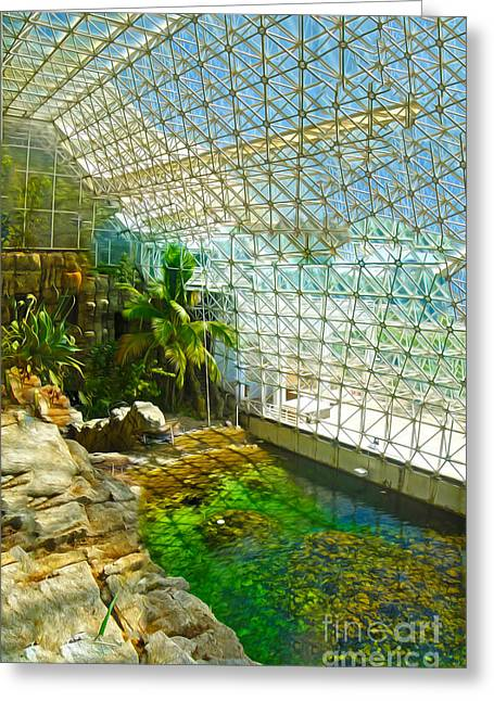 Biosphere2 - Environment 2 Greeting Card by Gregory Dyer