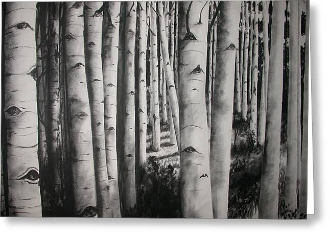 Birch Greeting Card by Scott Robinson