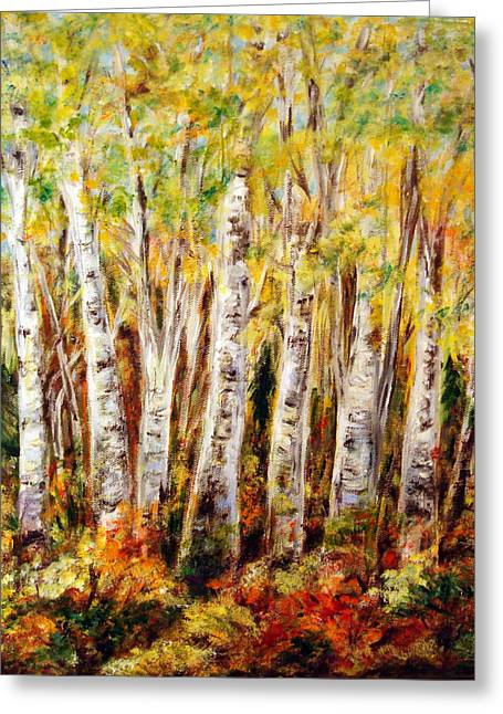 Birch Tree In Sunshine Greeting Card