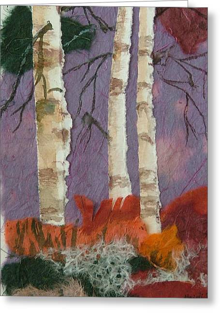 Birch Trio Greeting Card by Heidi Patricio-Nadon