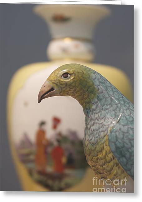Bird And Vase Greeting Card by James Knights