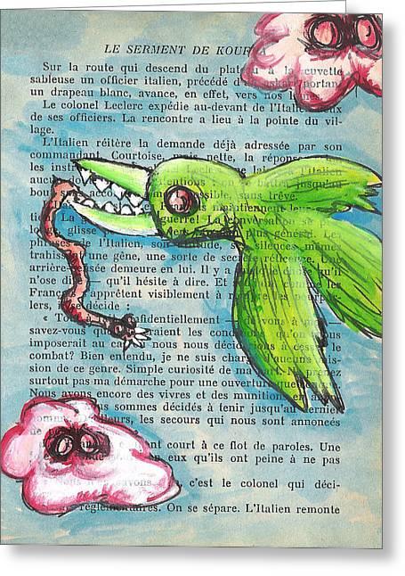 Bird And Worm Greeting Card