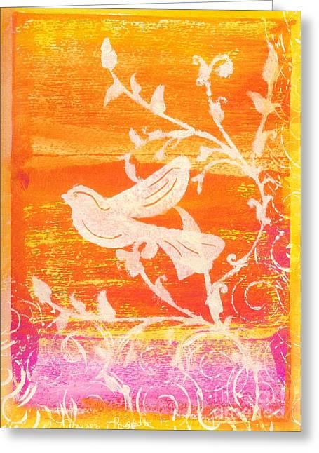 Bird In The Meadow Greeting Card