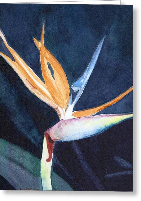 Bird Of Paradise Greeting Card by Charlotte Hickcox