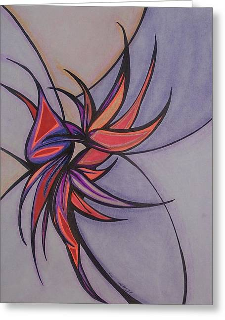 Bird Of Paradise Greeting Card by Tara Francoise