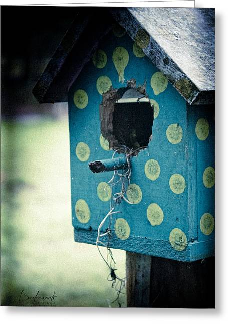 Birdhouse Memories Greeting Card by Robin Lewis