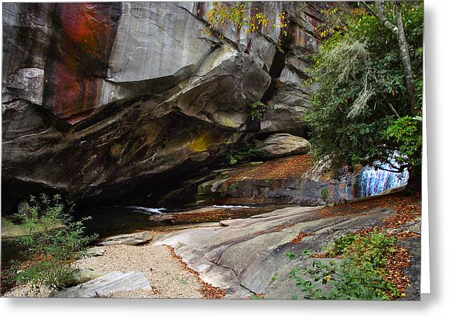 Birdrock Waterfall Greeting Card