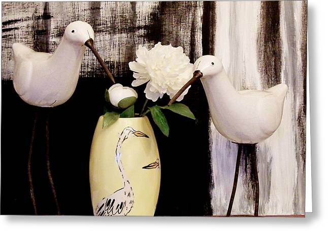 Birds By The Sea Greeting Card