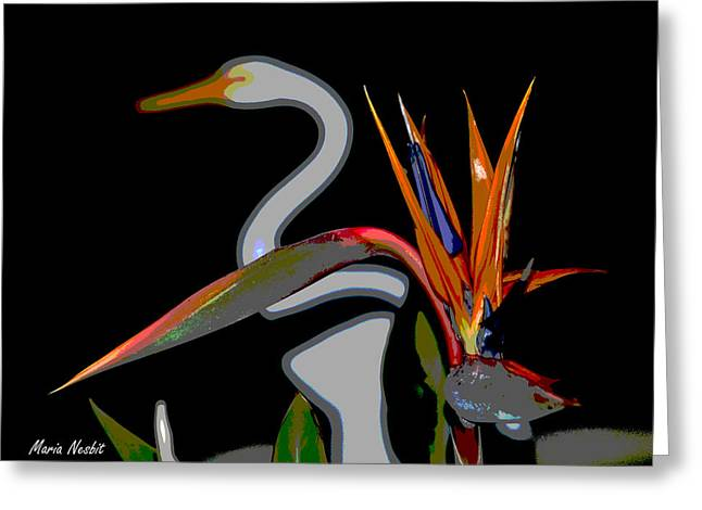Birds In My Paradise... Greeting Card