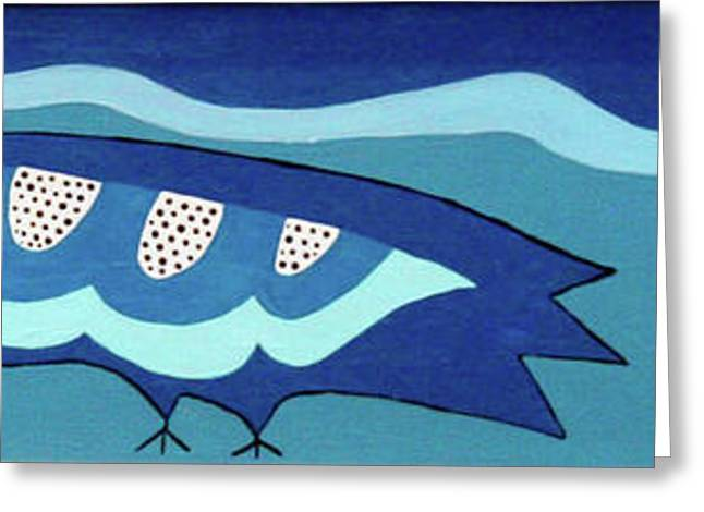 Birdy Eyeing Butterfly Greeting Card by Marilyn West