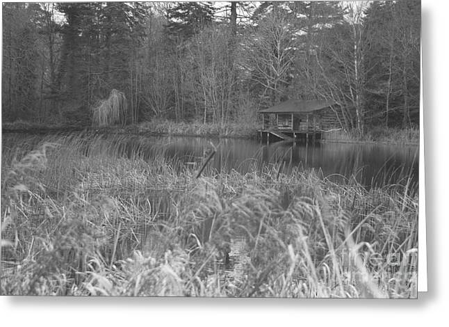 Birr Boathouse Greeting Card by Mike  Connolly