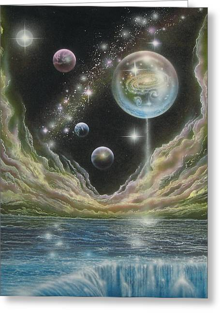 Birth Of A Universe Greeting Card by Sam Del Russi