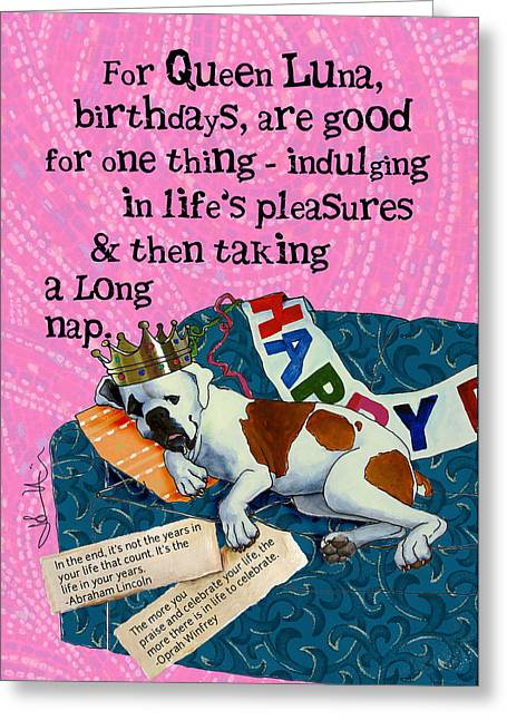 Birthdays Are For Indulging Greeting Card by Johanna Uribes