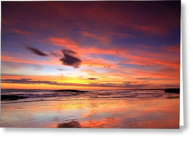 Birubi Sunset Greeting Card