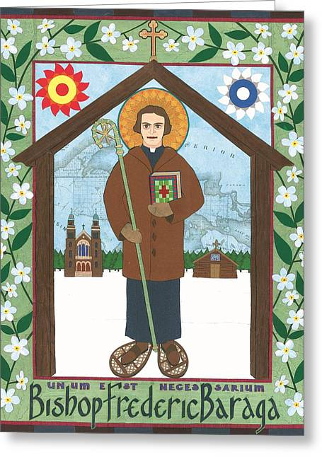 Bishop Frederic Baraga Icon Greeting Card by David Raber