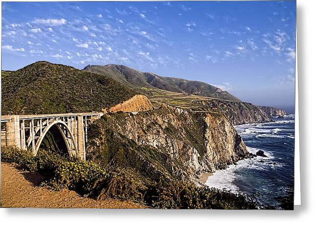 Bixby Bridge Greeting Card by Andre Salvador