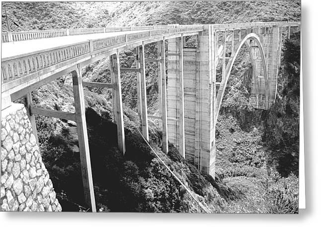 Bixby Bridge In Big Sur Greeting Card by Don Struke