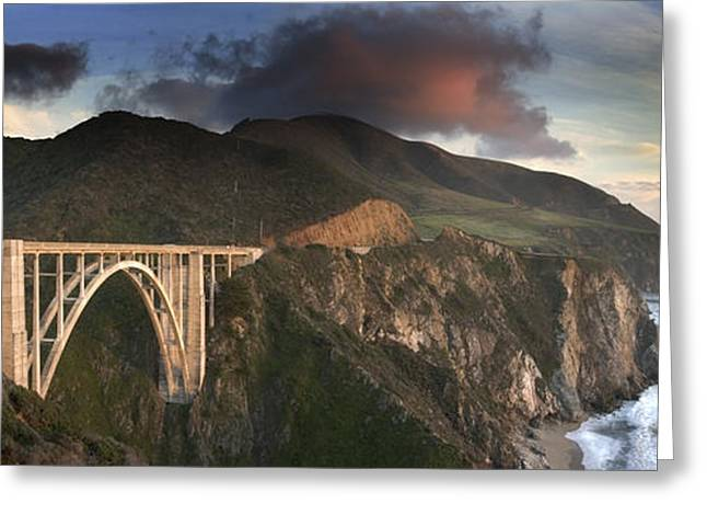 Bixby Bridge Sunset Greeting Card by Joe  Palermo
