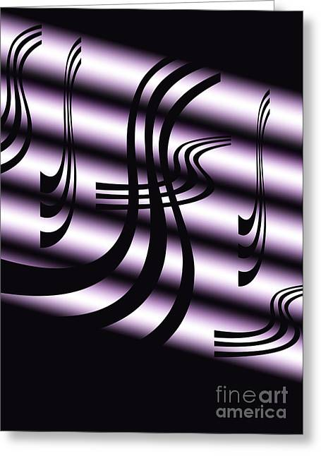Black And White Abstract Greeting Card