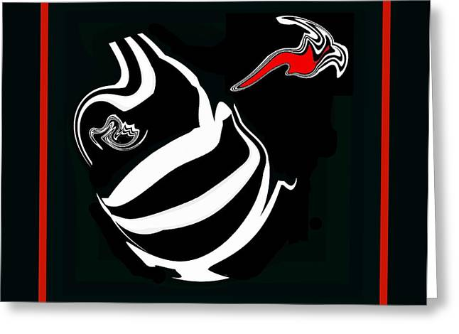 Black And White And Red No.53. Greeting Card