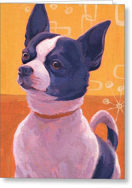 Black And White Chihuahu-attitude Greeting Card by Shawn Shea