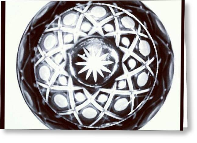 Black And White Glass Bowl. #glass Greeting Card
