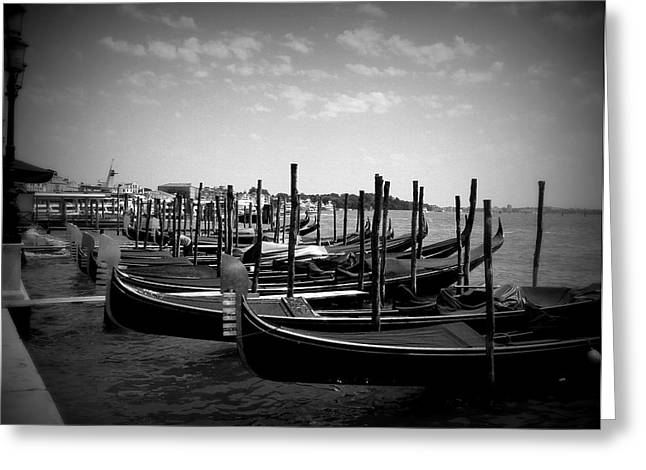 Black And White Gondolas Greeting Card
