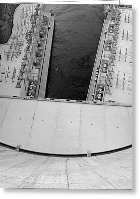 Black And White Hoover Dam Greeting Card by Twenty Two North Photography