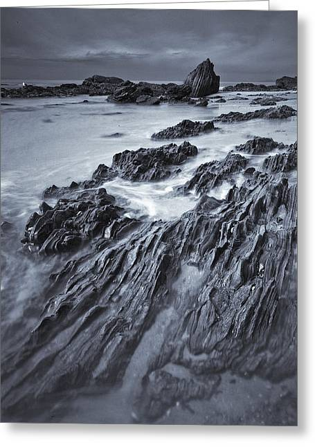 Black And White Of Rock Formations Greeting Card by Robert Postma