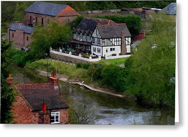 Black And White On The River Severn Greeting Card